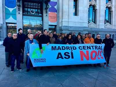 CETM-Madrid se concentra en Madrid para exigir que el Ayuntamiento siga negociando Madrid Central