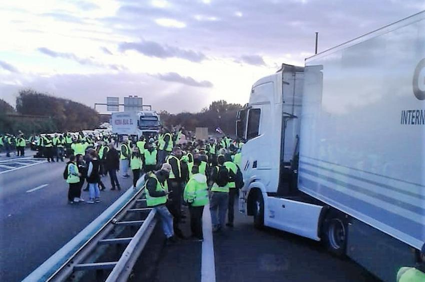 Cortes de carreteras en Cataluña
