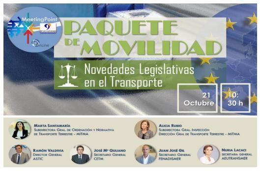 WEBINAR PAQUETE DE MOVILIDAD. NOVEDADES LEGISLATIVAS EN EL  TRANSPORTE