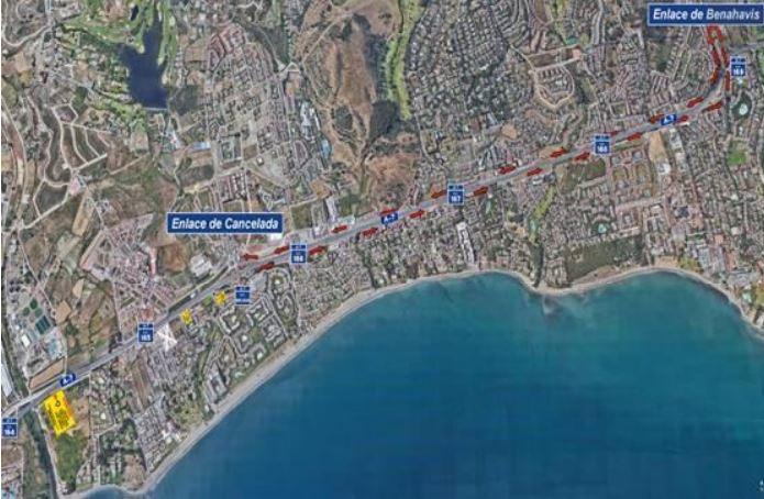Afecciones al tráfico en la a-7 a partir del 2 de marzo
