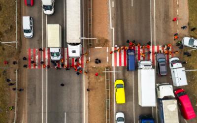 Nuevos cortes en Navarra para pedir el desvío del tráfico pesado a la A-15